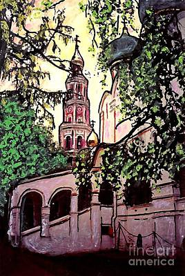 Moscow Mixed Media - Moscow Church by Sarah Loft