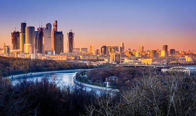 Sunset Photograph - Moscow City by Alexey Stiop