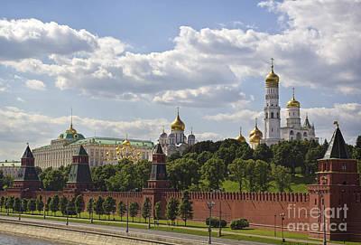 Moscow Kremlin Print by Elena Nosyreva