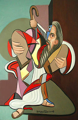 Moses Print by Anthony Falbo