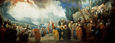 Moses Painting - Moses Elects The Council Of Seventy Elders by Jacob de Wit