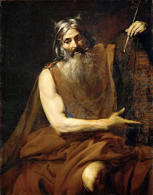 Moses Painting - Moses by Valentin de Boulogne