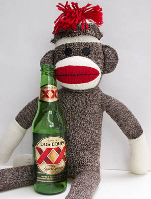 Bar Photograph - Most Interesting Sock Monkey In The World by William Patrick