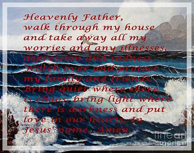 Most Powerful Prayer With Ocean Waves Print by Barbara Griffin