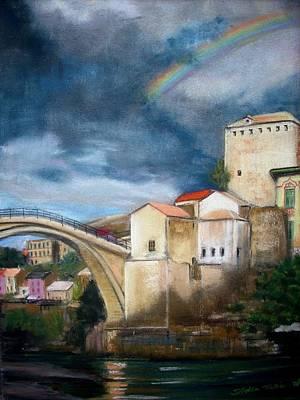 Bosnae Painting - Mostar Stari Most by Sibella Talic