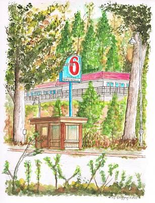 Motel 6 In Mammoth Lakes - California Original by Carlos G Groppa