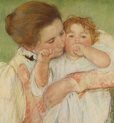 Mother And Child Print by Mary Stevenson Cassatt