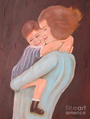 Mother And Child - Original Oil Painting Original by Anthony Morretta