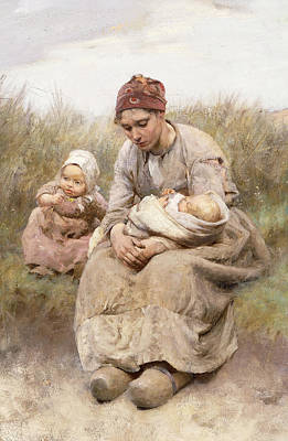 Sand Dunes Painting - Mother And Child by Robert McGregor