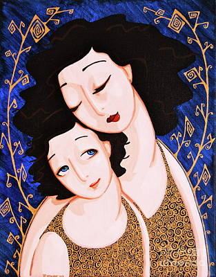 Mother And Daughter Print by Rebecca Mott
