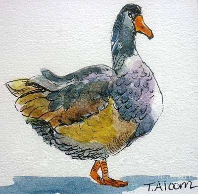 Mother Goose - Original Sold Print by Therese Alcorn