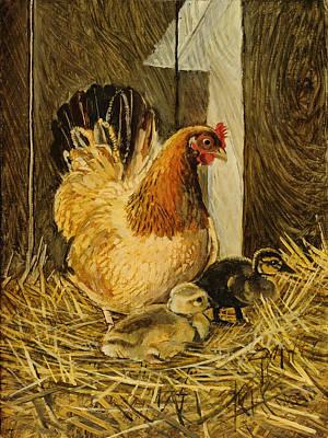 Mother Hen Print by Steve Spencer