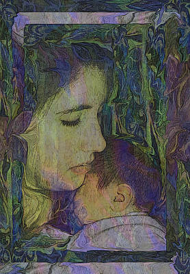 Madonna Digital Art - Mother Love Of Father Heart by Kate Browning Word