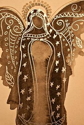 Virgen De Guadalupe Painting - Mother Mary Guadalupe  by Alma Yamazaki