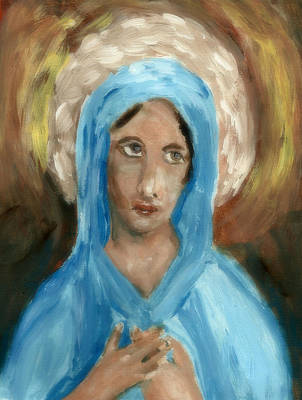 Mother Mary Print by Peg Holmes