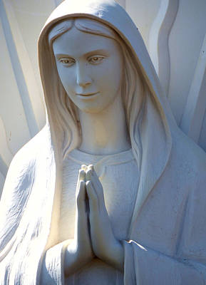 Mother Mary Statue Print by David G Paul