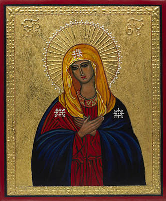 Egg Tempera Painting - Mother Of Mercy I by Ilse Wefers