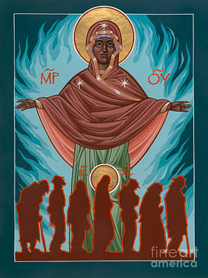 Mother Of Sacred Activism With Eichenberg's Christ Of The Breadline Print by William Hart McNichols