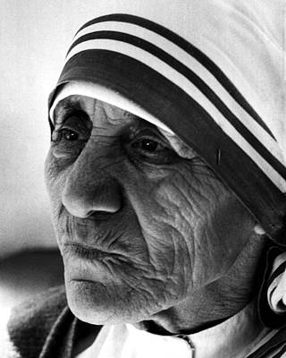 Charity Photograph - Mother Teresa Close Up by Retro Images Archive
