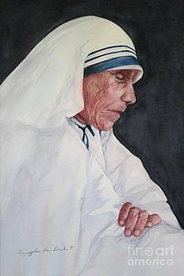 Mother Teresa Print by Kyong Burke
