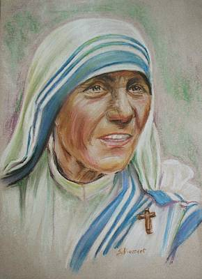 Albania Painting - Mother Teresa by Sheila Diemert