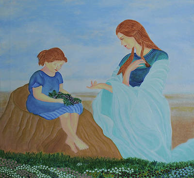 Moral Painting - Mother - The Real Mentor by Bliss Of Art