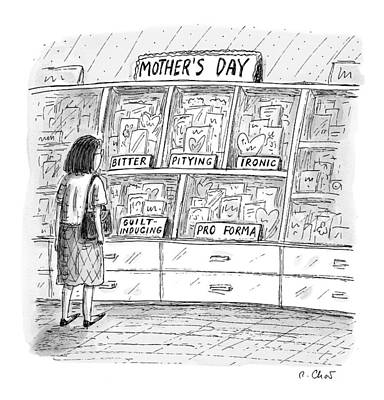 Mother's Day Cards Print by Roz Chast