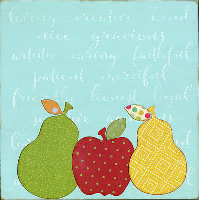 Pears Painting - Mother's Day Kitchen Art by Alli Rogosich