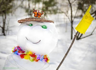 Santa Photograph - Mothers Day Snowman by LeeAnn McLaneGoetz McLaneGoetzStudioLLCcom