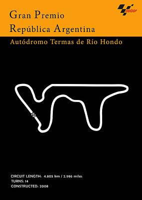 Circuit Photograph - Moto Gp Argentina by Mark Rogan