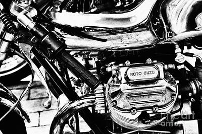 Cylinder Photograph - Moto Guzzi Le Mans Detail by Tim Gainey