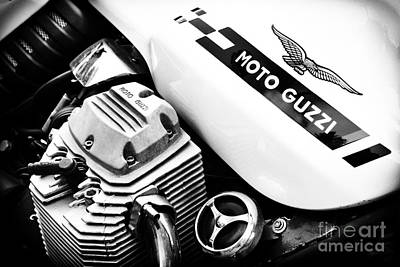 Cylinder Photograph - Moto Guzzi Le Mans Monochrome by Tim Gainey
