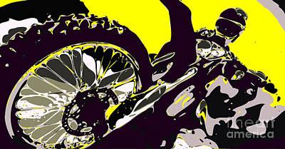 Wild Racers Digital Art - Motocross by Chris Butler