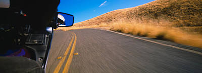 Motorcycle On A Road, California, Usa Print by Panoramic Images