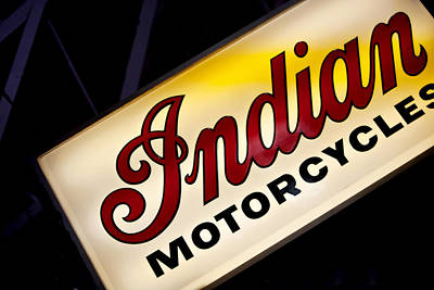 Fun Show Photograph - Motorcycle Sign by Art Block Collections