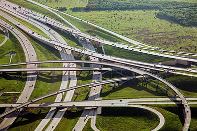 Grapevines Photograph - Motorway Junction by Jim West