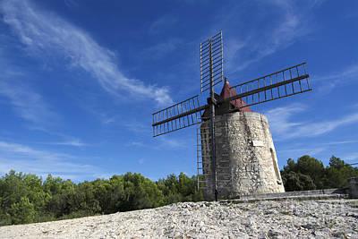 Moulin De Daudet.windmill Of Alphonse Daudet. Provence. France Print by Bernard Jaubert