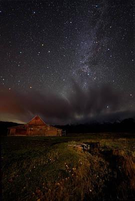 Night Workshop Photograph - Moulton Barn Milk by Mike Berenson