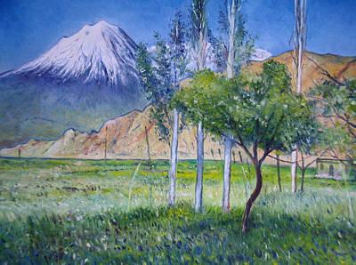 Painting - Mount Ararat North Eastern Anatolia Turkey by Enver Larney