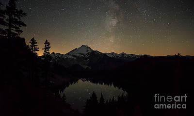 Mount Baker Milky Way Print by Mike Reid