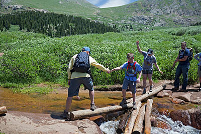 Mount Bierstadt Hiking Trail Print by Jim West