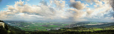 Mount Carmel And Jezreel Valley  Israel Print by Reynold Mainse