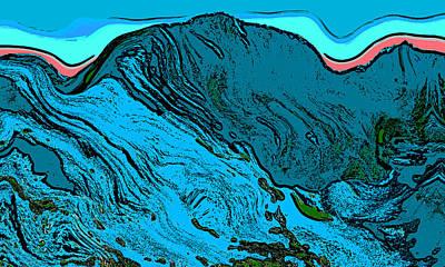 Democrat Digital Art - Mount Democrat - Colorado by David G Paul