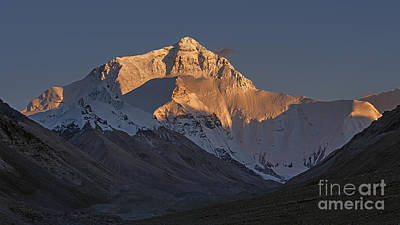 Tough Photograph - Mount Everest At Dusk by Hitendra SINKAR