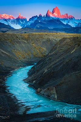 Fitz Photograph - Mount Fitz Roy by Inge Johnsson