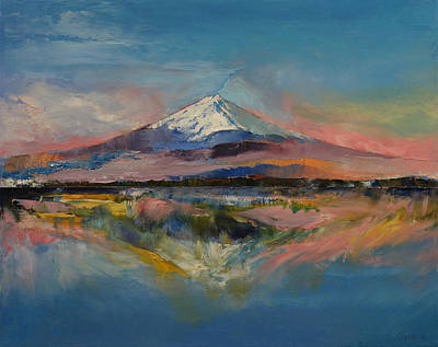Impressionism Painting - Mount Fuji by Michael Creese