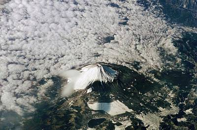 Honshu Photograph - Mount Fuji by Nasa