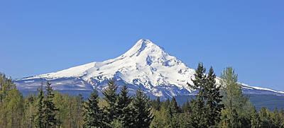 Mount Hood Mountain Oregon Print by Jennie Marie Schell