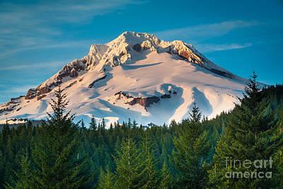 Mount Hood Winter Print by Inge Johnsson