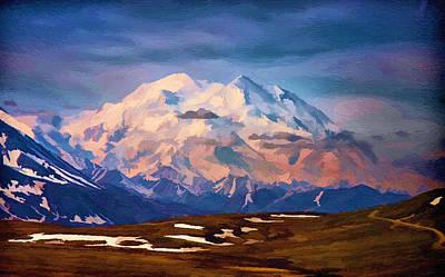 Grand Memories Painting - Mount Mckinley by John Haldane